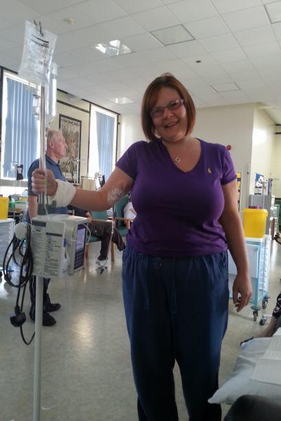 Después de seis agotadoras semanas de quimioterapia, radioterapia...