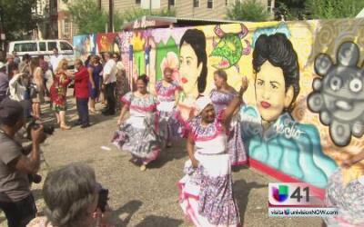 Primer mural en tributo a las puertorriqueñas en Newark, Nueva Jersey