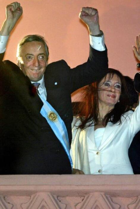 NÉSTOR KIRCHNER Y CRISTINA FERNÁNDEZ - Néstor y Cristina se conocieron a...
