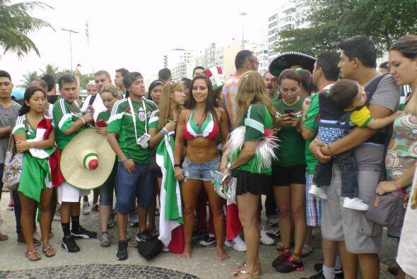 La afición mexicana no deja de disfrutar del mundial y cada vez que se r...