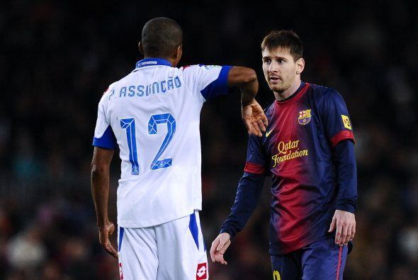 Messi entró a jugar la segunda mitad.