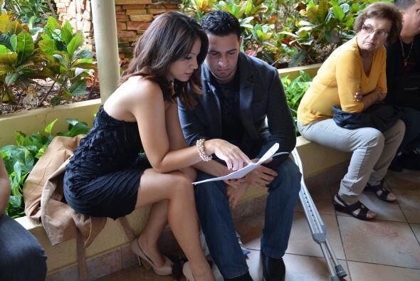 Los concentrados fueron muchos, esta pareja estudió sus escenas hasta el...