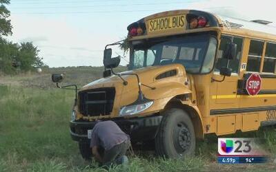 Bus escolar se accidentó en Waxahachie