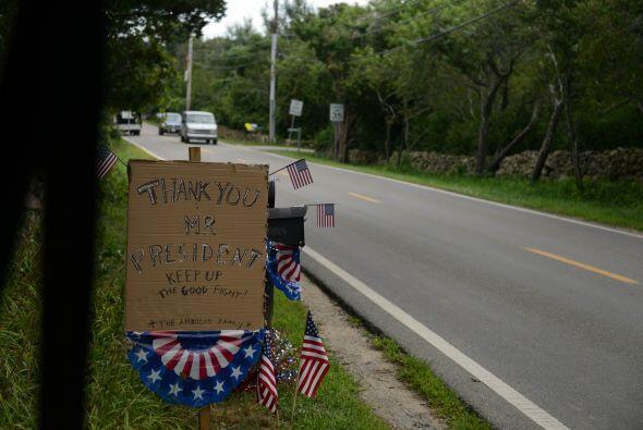 También colgaron en una de las avenidas un mensaje  en el que agradecen...