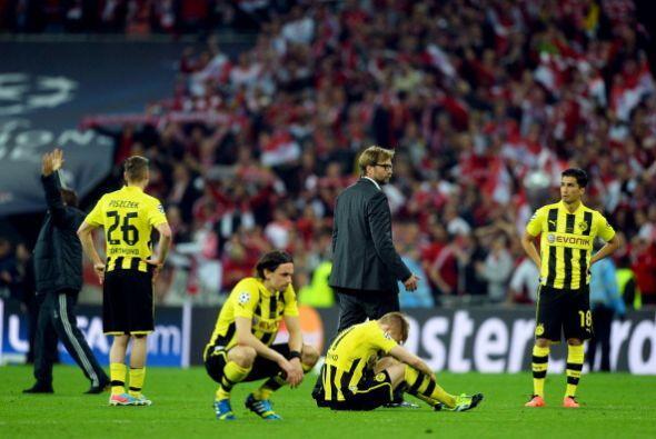 Tristeza del Borussia de Dortmund que jugó un gran partido.