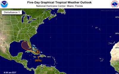 El disturbio tropical tiene potencial de desarrollo a medida que se acer...