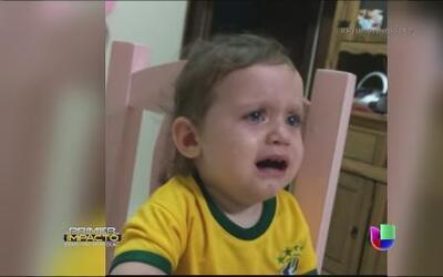 Desconsolada esta una pequeña porque Neymar ya no jugara en el mundial