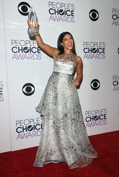 Y su protagonista, la latina Gina Rodriguez, estaba muy pero muy feliz c...