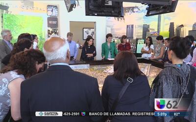 Líderes globales visitan comunidad ecológica de Austin