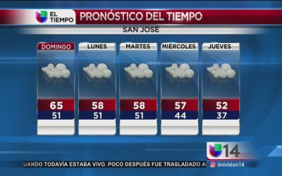 Las lluvias seguirán por el resto de la semana en el Área de la Bahía