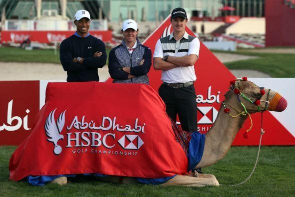 Tiger Woods de EEUU, Rory McIroy de Irlanda y Justin Rose, de Inglaterra...
