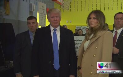 Trump emitió su voto y espera el resultado de las elecciones