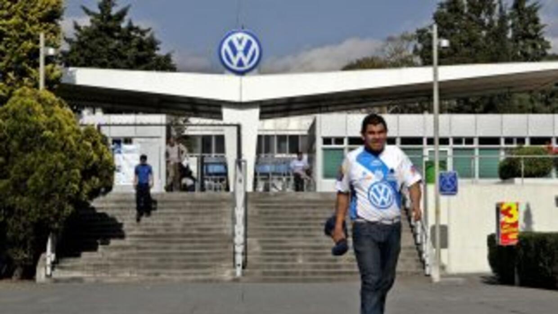 La planta de Volkswagen en Puebla, México.