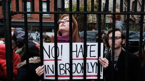 Manifestación contra el odio en Brooklyn, Nueva York