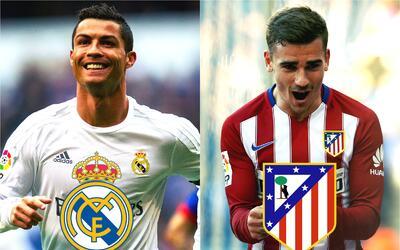 Ronaldo y Griezmann son las figuras de Real Madrid y Atlético