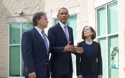 Barack Obama, tras su encuentro con familiares de las víctimas en Oregon.