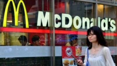 La filial japonesa de McDonald's anunció la retirada de todos sus produc...