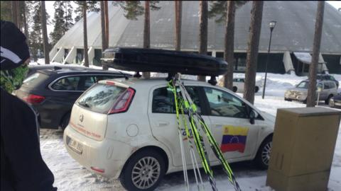Equipo venezolano en el Mundial de Esquí en Finlandia