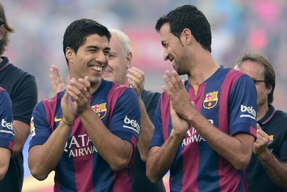 Suárez ya se nota bastante a gusto en su nuevo equipo, aqu&iacute...