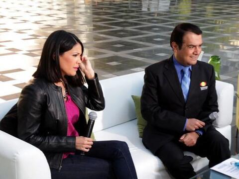 Karla Martínez estuvo transmitiendo en vivo y en directo para 'De...