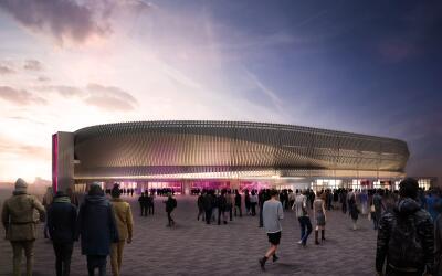 Así se espera que luzca el Coliseo de Nassau cuando reabra al público en...