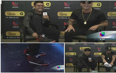 Wisin le regaló sus tenis a José Santana y se quedó con las viejas y usadas