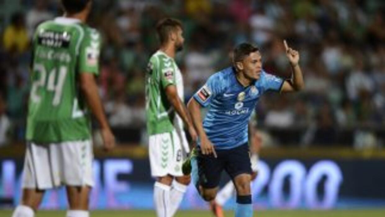 Quintero hizo el segundo tanto de los 'Dragones', en el partido donde el...