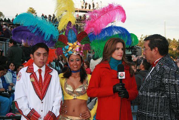 El sabor latino estuvo presente durante el desfile.
