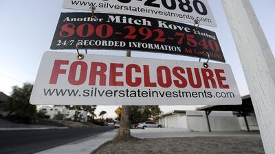 Anuncio de ejecución hipotecaria en una casa de Las Vegas, Nevada