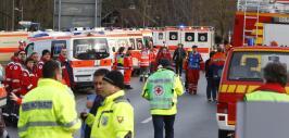 Operativo de rescate de heridos del accidente de trenes