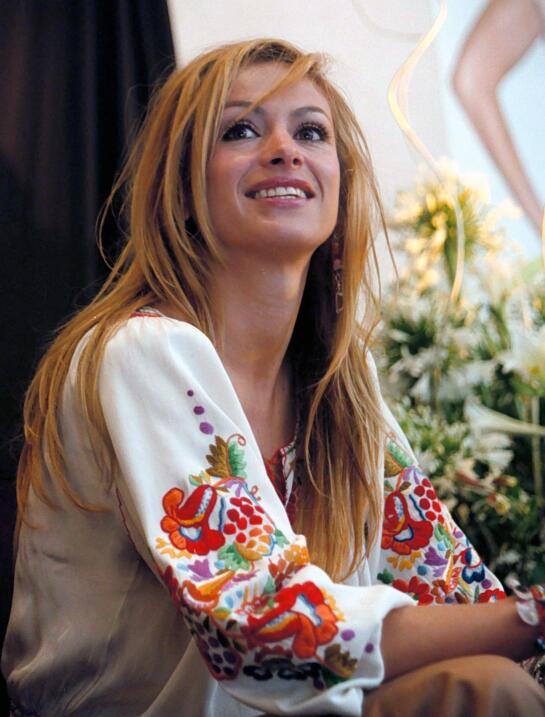 Paulina Rubio durante la presentación su disco Border Girl el 25...
