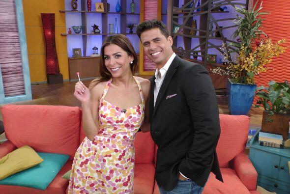 Lourdes Stephen y Pedro Moreno llegaron felices a conducir Despierta Am&...