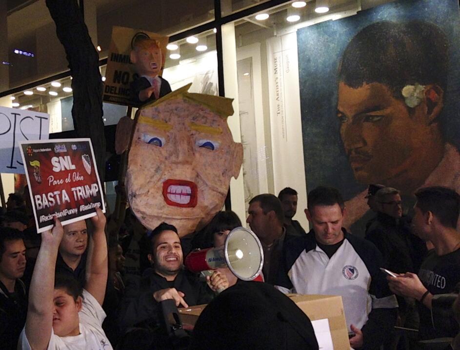Manifestantes contra Trump en NY