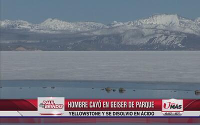 Hombre cayó en 'geiser' de parque Yellowstone