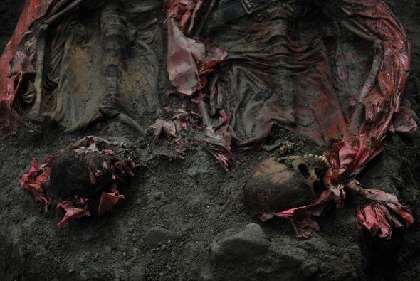 La exhumación fue realizada por antropólogos del Programa Nacional de Re...