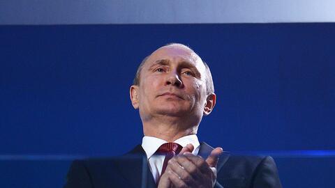 Presidente de Rusia Vladimir Putin durante los Juegos Olímpicos d...