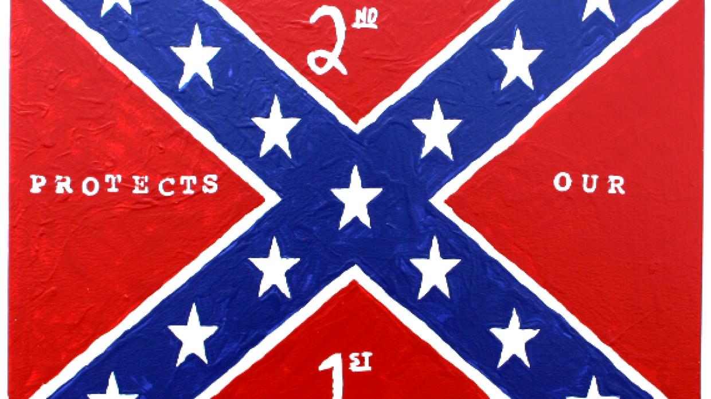 Pintura de la bandera confederada de George Zimmerman
