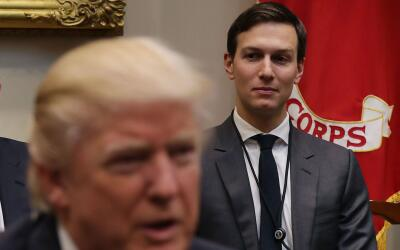 El presidente Donald Trump y su yerno, Jared Kushner.