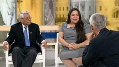 Los activistas Eliseo Medina y Gaby Pacheco en el programa Al Punto con...