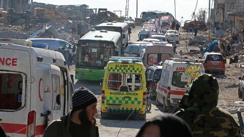 Evacuación Alepo