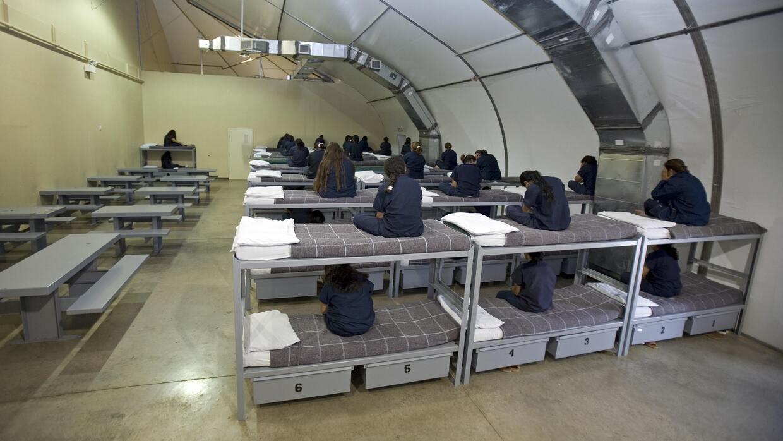 A partir del 24 de octubre había 31,656 inmigrantes en custodia en los c...