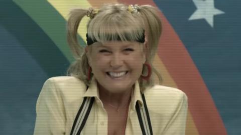 Xuxa en campaña promocional del show de Netflix Stranger Things.