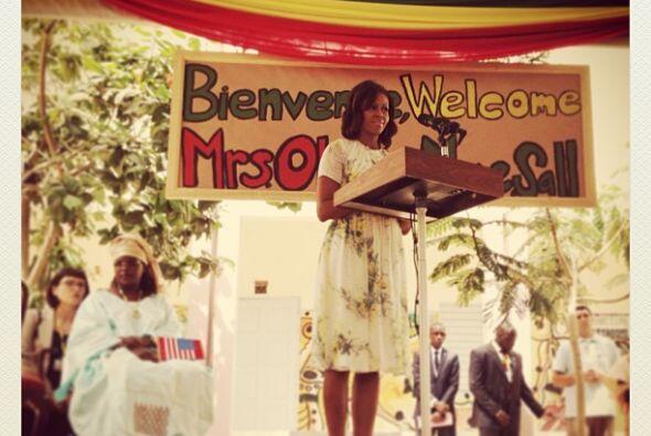 La esposa del presidente de Estados Unidos, Michelle Obama, estren&oacut...