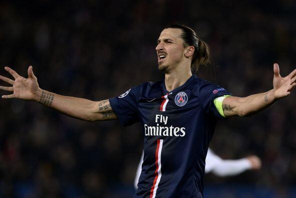 Zlatan rara vez pasa desapercibido con el París Saint-Germain don...