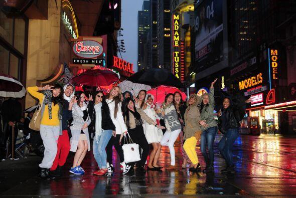 ¡Llegó el turno de Nueva York! Desde temprano cientos de chicas llegaron...