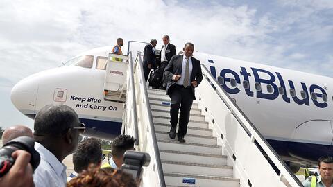 El vuelo 387 de JetBlue despegó este miércoles desde Fort...