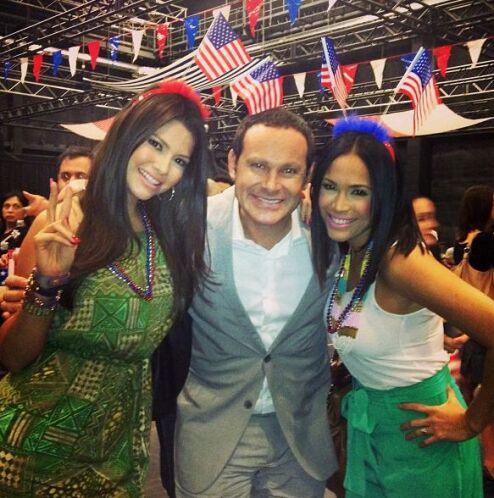 """""""Celebrando el 4 de julio en la fiesta de Univision"""", escribió Ana Patri..."""