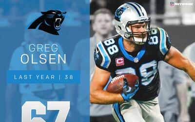#67 Greg Olsen (TE, Panthers) | Top 100 Jugadores 2017