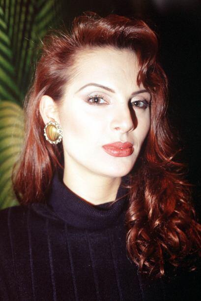 Carmen Campuzano en 1999, cuando salía con Andrés García y la modelo tod...