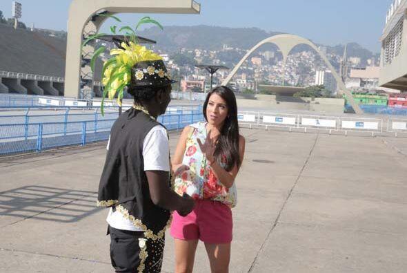 Durante su visita por el famoso sambódromo Maity conoció a...